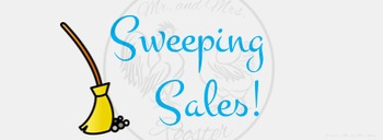 ZING Banners! Animated TpT Banner: Sweeping Sales! {Animated Quote Box}