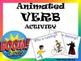 Animated VERB Activity: Present Progressive- BOOM Cards!