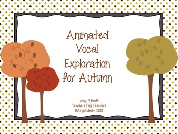 Animated Vocal Exploration PowerPoint for Fall