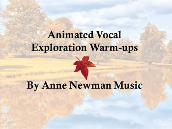Animated Vocal Explorations for Fall