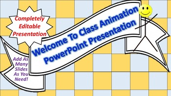 """Animated """"Welcome To Class"""" PowerPoint Background"""