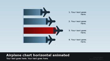 Animated airport infograph