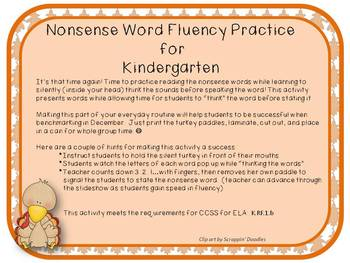 Animated pptx for Nonsense Word Fluency Practice in Kindergarten or 1st