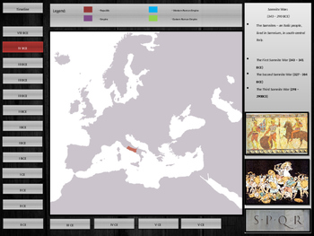 Animated timeline - The Rise and and Fall of the Roman Empire