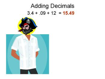 Animated video to help students remember how to add decimals