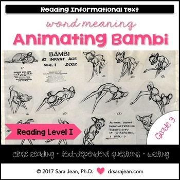 Animating Disney's Bambi • Reading Comprehension Passages and Questions • RL I