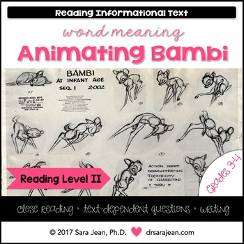 Animating Disney's Bambi • Reading Comprehension Passages and Questions • RL II