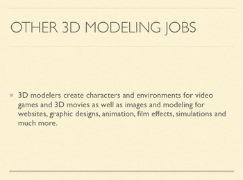 Animation Careers Project Lesson