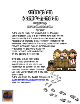 Animation Comprehension Activity