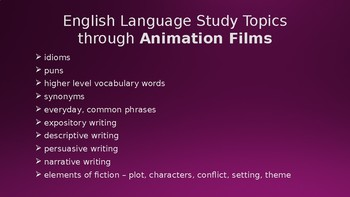 Animation Films Unit Plan