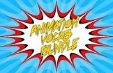 Animation Vocab Flashcard Bundle