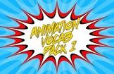 Animation Vocab Flashcards - Pack 1