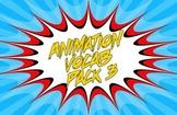 Animation Vocab Flashcards - Pack 3
