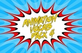 Animation Vocab Flashcards - Pack 4