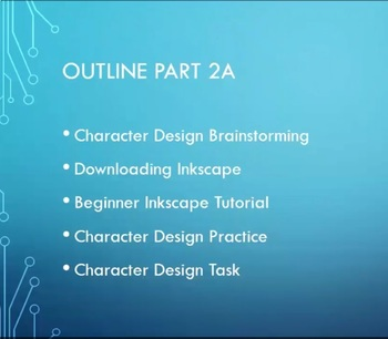 Animation for Beginners Part 2 - Using Inkscape to Design Characters