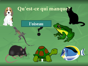 Animaux (Animals in French) PowerPoint