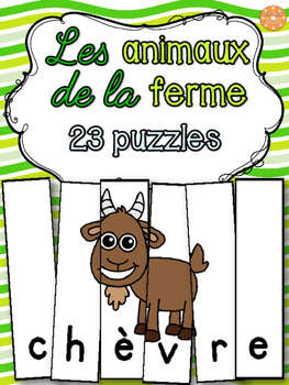 Animaux de la ferme - 23 puzzles - French animals