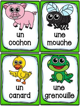 Animaux de la ferme - Cartes de vocabulaire (26) - French Farm Animals