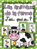 Animaux de la ferme - Jeu j'ai qui a - French Farm Animals