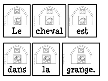 Animaux de la ferme - Phrases mêlées - French Farm Animals