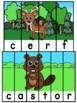 Animaux de la forêt - 21 puzzles - French animals
