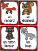 Animaux de la forêt - Cartes de vocabulaire (27) - French Forest Animals