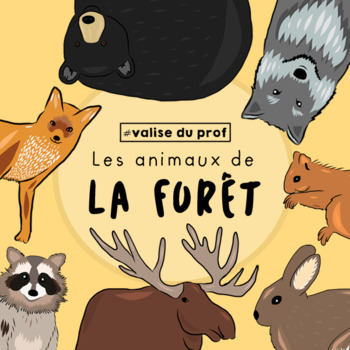 Animaux de la forêt / Forest animals Clip Art