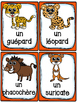 Animaux de la savane - Cartes de vocabulaire - French Safari Animals