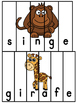 Animaux du zoo - 26 puzzles