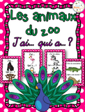 Animaux du zoo - Jeu j'ai qui a - French Zoo Animals