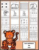 Animaux du zoo: activités (papier-crayon)