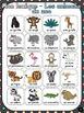 Animaux du zoo - mur de mots et lexique (29 mots) - French animals