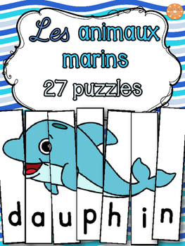 Animaux marins - 27 puzzles - French animals