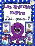 Animaux marins - Jeu j'ai qui a - French Ocean Animals
