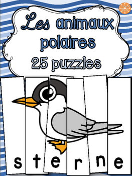 Animaux polaires - 25 puzzles - French animals