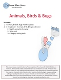 Animals, Birds & Bugs Matching Book & Learning Extensions