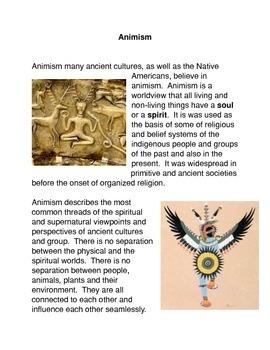 Animism Common Core Activity