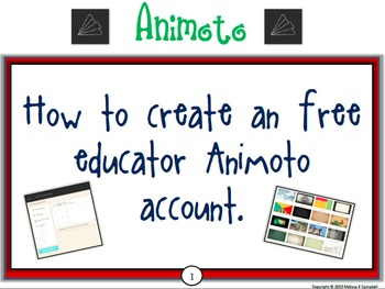 Animoto Tutorial for Teachers and Students