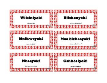 Anishinaabemowin - Imperatives flash cards