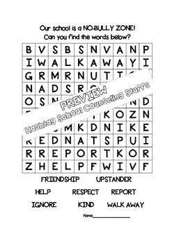 Anti-Bullying Word Search