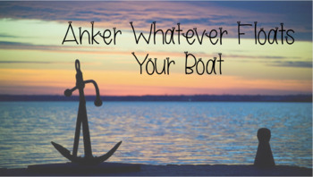 Anker Fonts: Anker Whatever Floats Your Boat