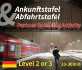 Ankunftstafel & Abfahrtstafel - Speaking Activity