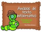Análisis de texto informativo de animales del zoológico - ¡En español!