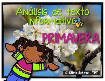Análisis de texto informativo - Primavera