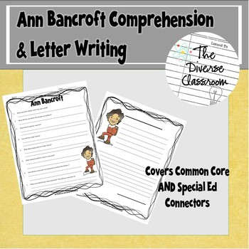 Ann Bancroft Reading and Letter Writing Activity - Middle School