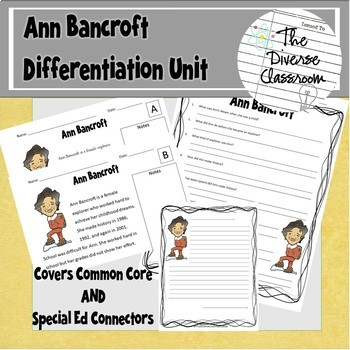 Ann Bancroft Women in Science Differentiated Unit