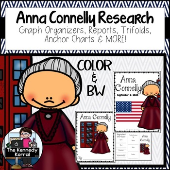 Anna Connelly: Biography Research Bundle {Report, Trifold,