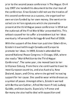 Anna Eckstein Handout