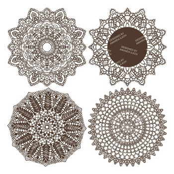 Anna Lace Round Doilies in Chocolate