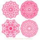 Anna Lace Hot Pink Doily Vectors - Doily Clipart Images, Digital Doilies